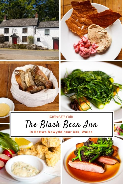 The Black Bear Inn, a gastropub in Bettws Newydd, near Usk, Wales