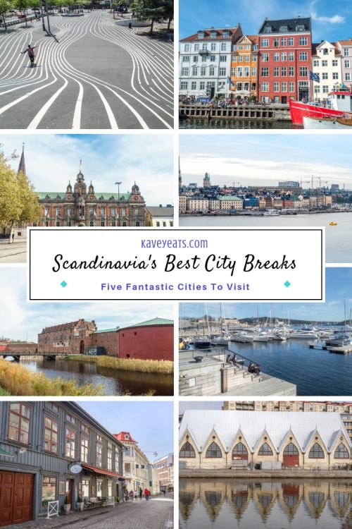 Collage of five best Scandinavian Cities