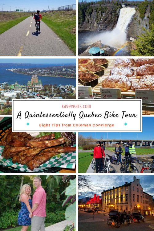 Collage of Biking Quebec images