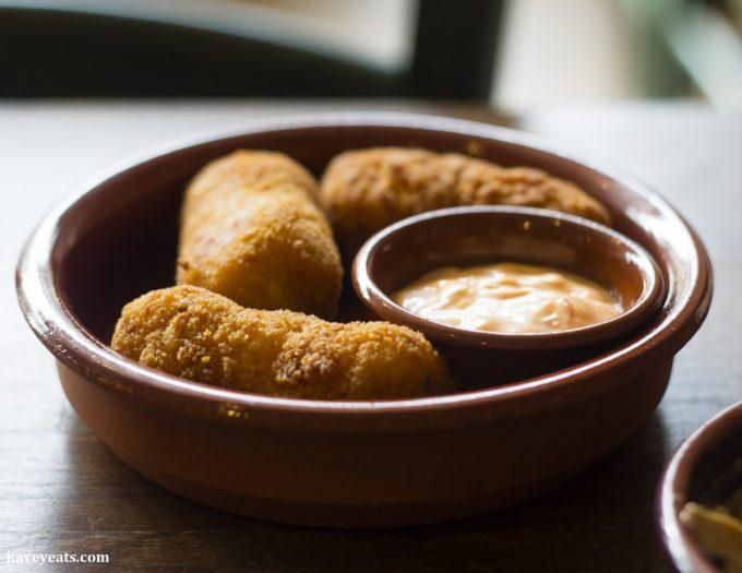 Ham croquettes, Tapas Twist Spanish Restaurant