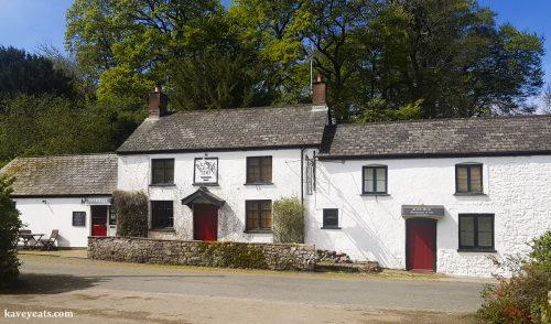 Exterior of The Black Bear Inn, a gastropub in Bettws Newydd, near Usk, Wales