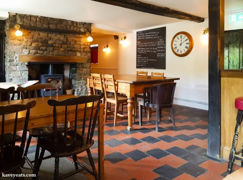 Interior of The Black Bear Inn, a gastropub in Bettws Newydd, near Usk, Wales