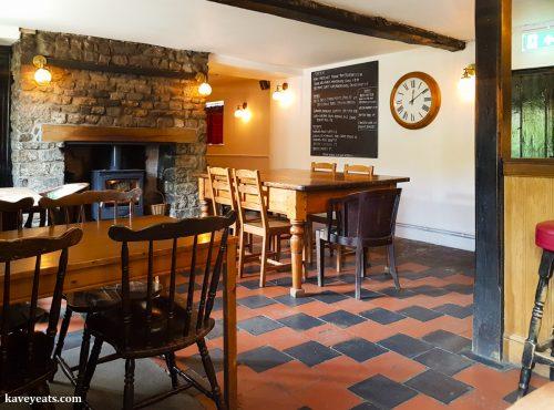 Interior of The Black Bear Inn, a gastropub in Bettws Newydd, near Usk, Wales