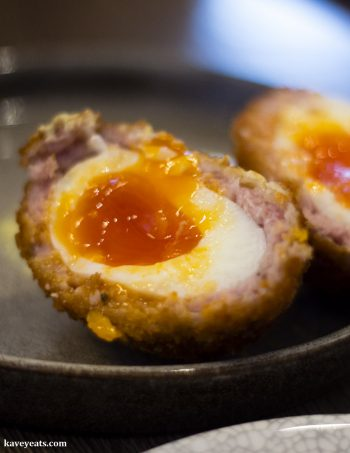 Sage and onion scotch egg