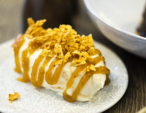Banana and honeycomb chantilly cream