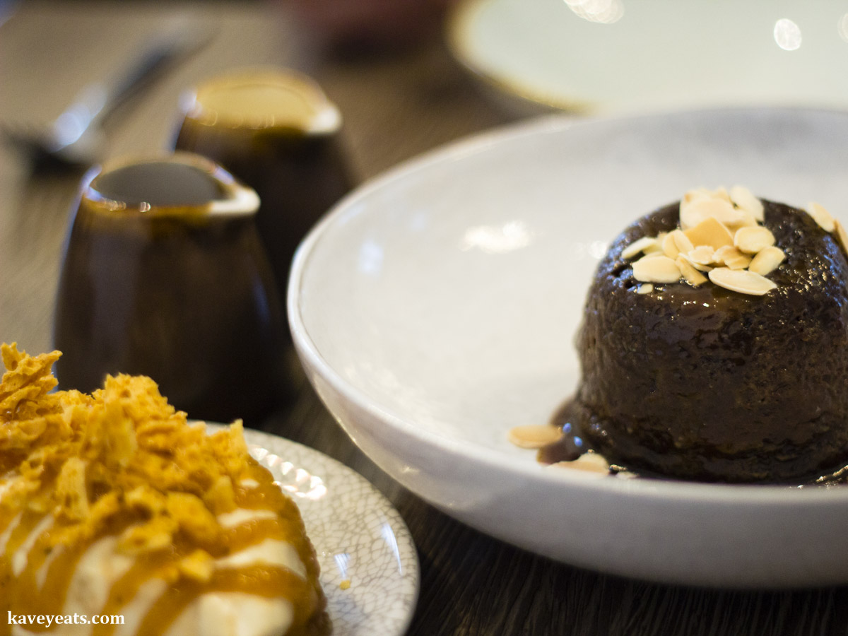 Sticky banoffee pudding dessert at The Gaff Restaurant