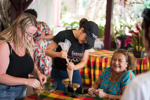 Cooking lessons at Grenada Chocolate Festival