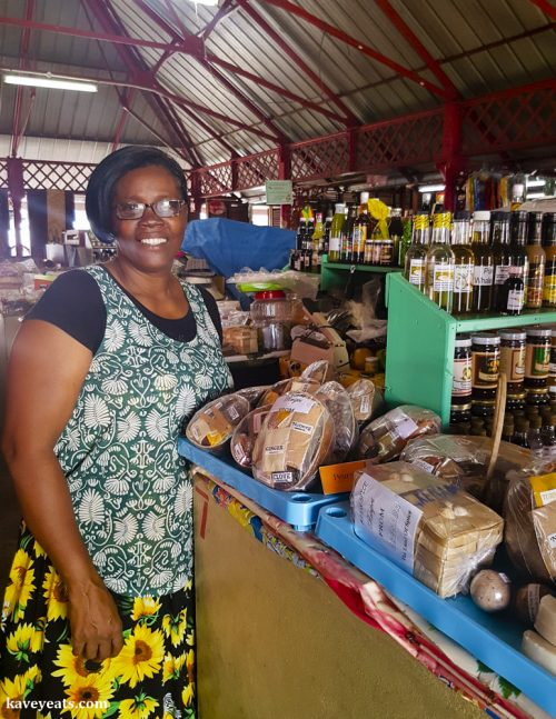 Betty, a vendor at Market Square, St George, Grenada