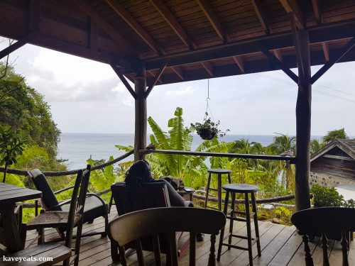 Relaxing at Crayfish Bay Organic Estate in Grenada