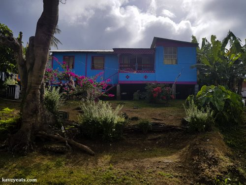 Colourful island houses, Grenada