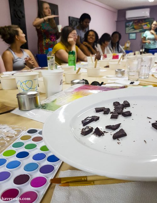 Tasting by Colour, at the Grenada Chocolate Festival