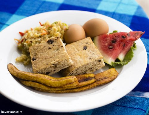 Fried bake and saltfish souse at True Blue Bay Resort in Grenada