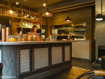 The bar at Asador 44 restaurant in Cardiff