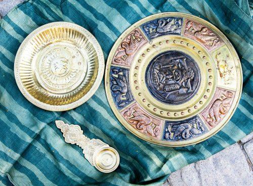 Indian brassware souvenirs