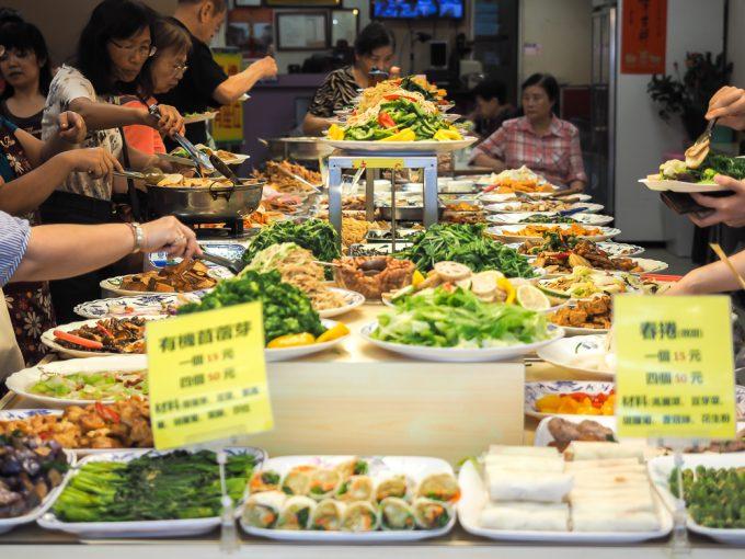 Vegetarian Buffet restaurant, Taiwan