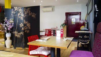 Interior of Noa Japanese Restaurant in Bristol