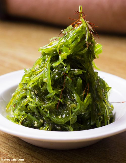 Wakame Salad (Seaweed) at Noa Japanese Restaurant in Bristol