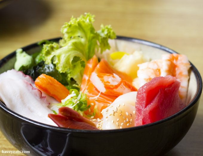 Chirashi Don at Noa Japanese Restaurant in Bristol