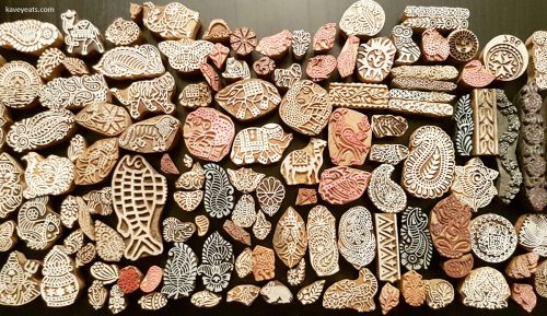 Woodblock stamps from Jaipur