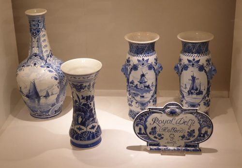 Royal Delft in the factory showroom