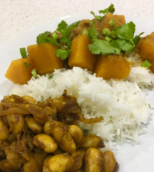 Burmese Braised Butter Beans and Golden Pumpkin Curry
