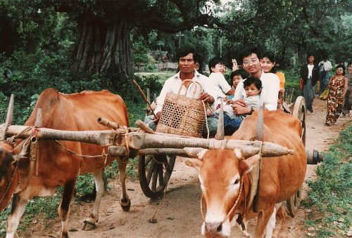 Bullock Cart family photo from Mandalay by MiMi Aye
