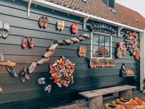 Clogs and Clog Factory in Zaanse Schans near Amsterdam