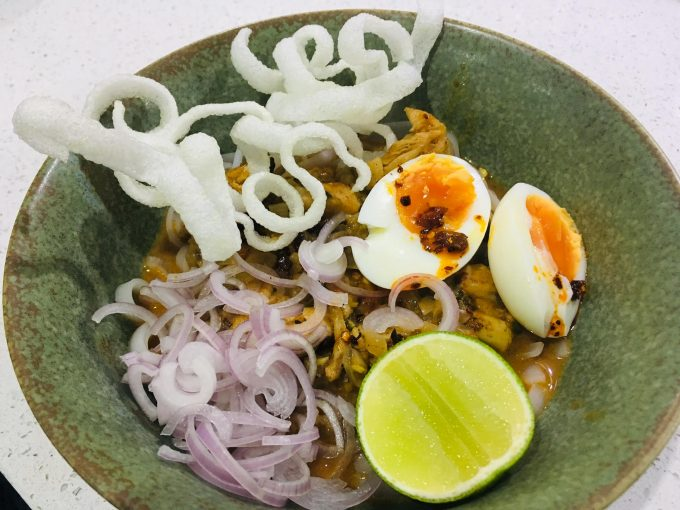 Burmese Coconut Chicken Noodles