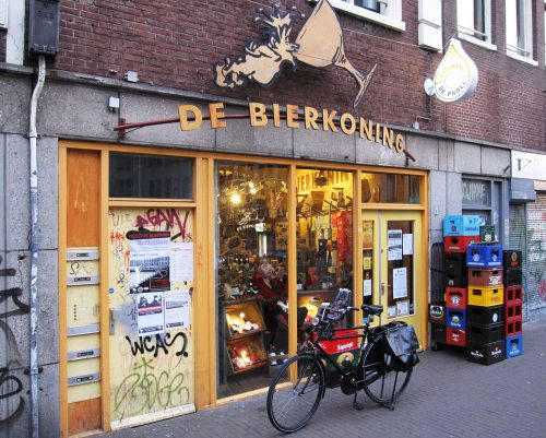De Bierkoning beer shop in Amsterdam