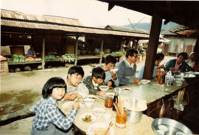 Eating Noodles in Mogok