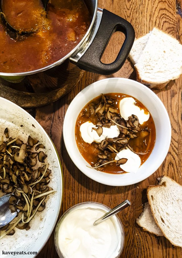 Nigel Slater Mushroom, Butternut & Soured Cream Soup Recipe
