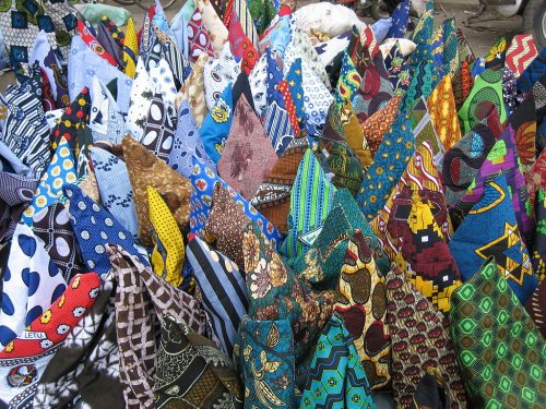 Kanga and Kitenge in East African market