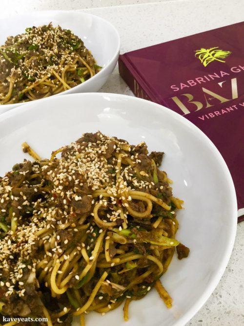 Mushroom, Tahini & Harissa Spaghetti