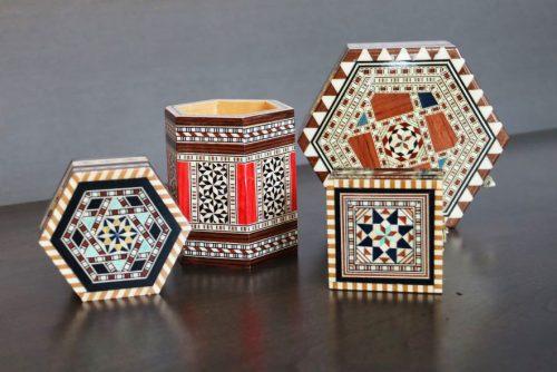 Taracea boxes from Granada, Spain