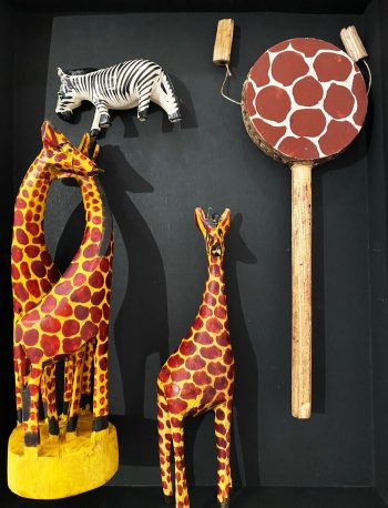 Kenyan wooden animal carvings