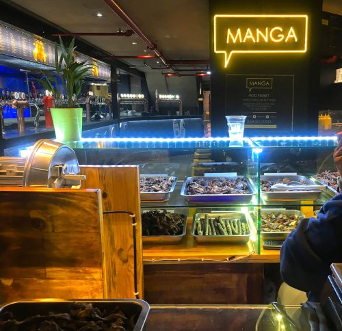 Biltong stall at Mojo Market in Cape Town