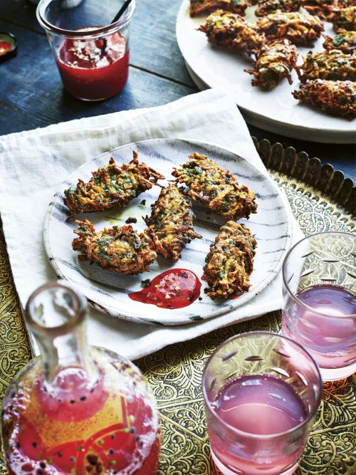 Sabrina Ghayour's Turmeric, Spinach & Sweet Potato Fritters