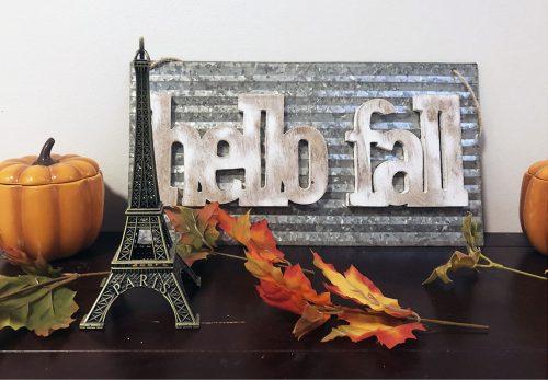 Eiffel Tower Souvenir on shelf