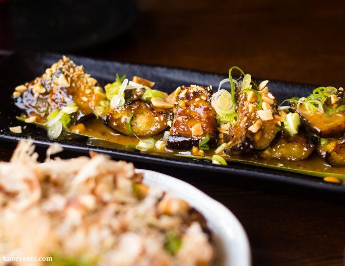 Spicy Peanut Miso Aubergine at Koj Cheltenham Restaurant