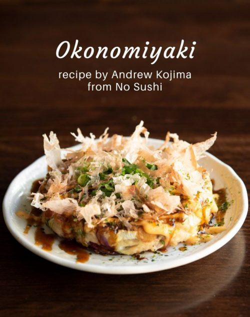 Okonomiyaki from Andrew Kojima's No Sushi cookbook