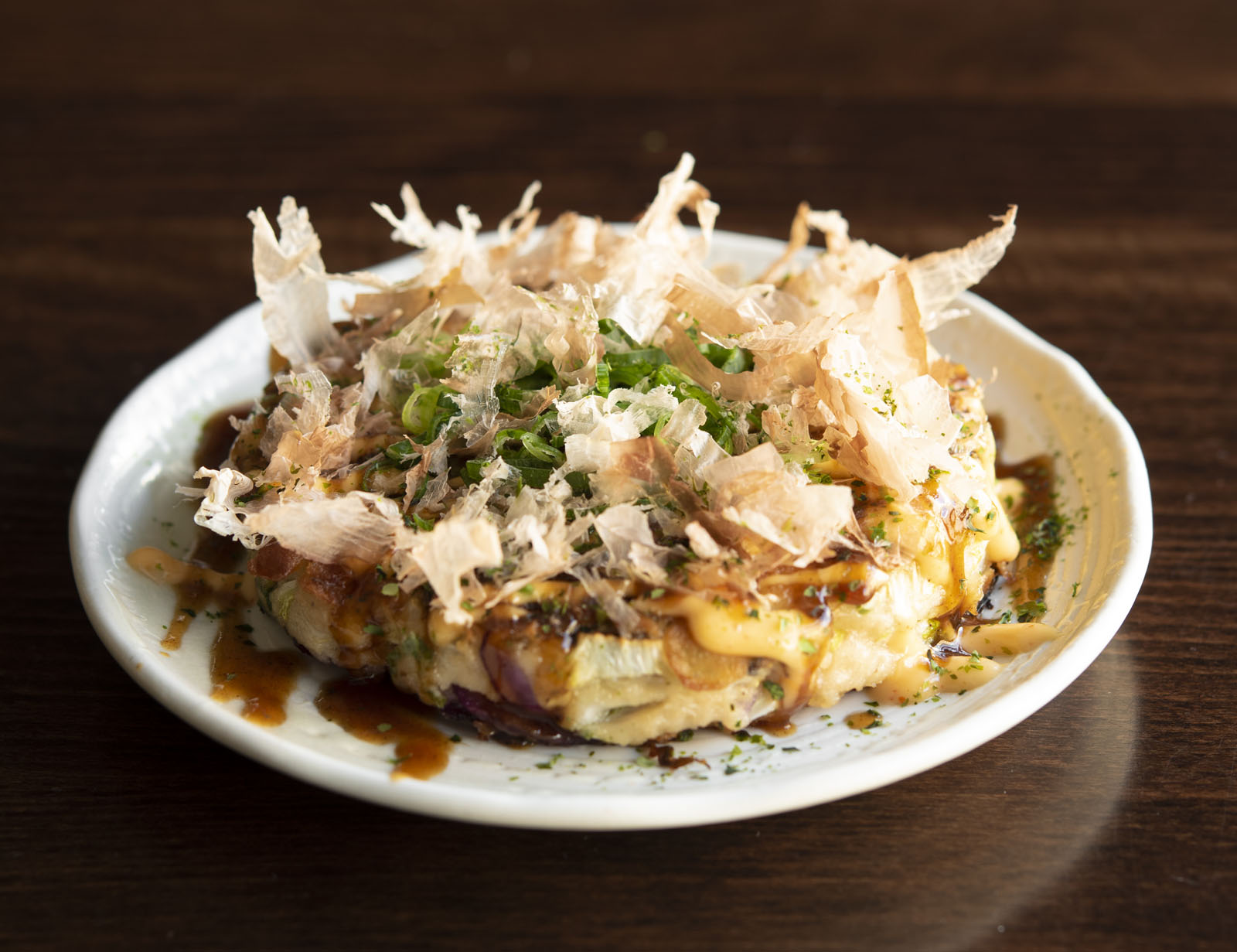 Okonomiyaki from Andrew Kojima's No Sushi cookbook