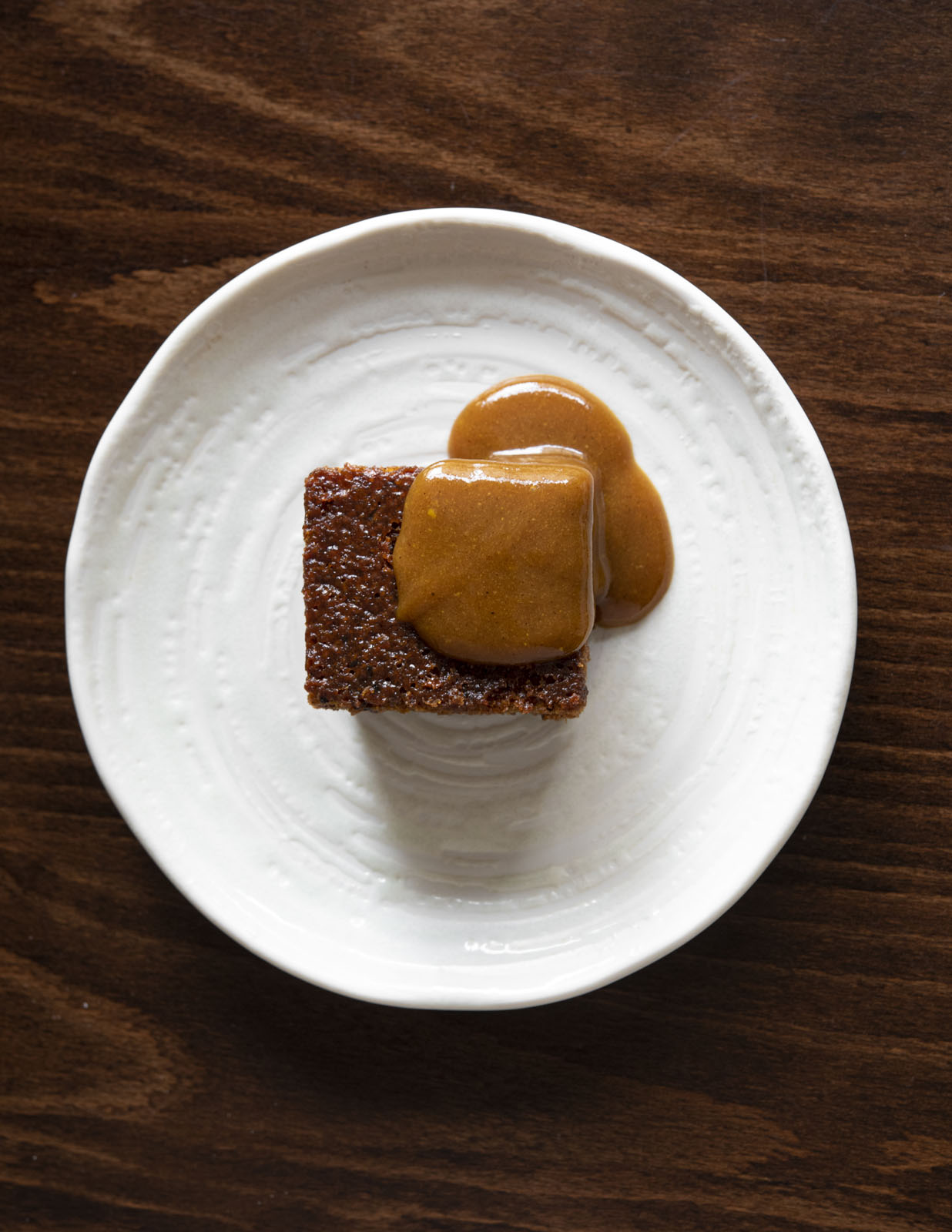 Sticky Toffee Pudding & White Miso Butterscotch Sauce by Andrew Kojima