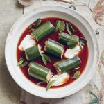 Romanian Stuffed Courgette Soup With Soured Cream