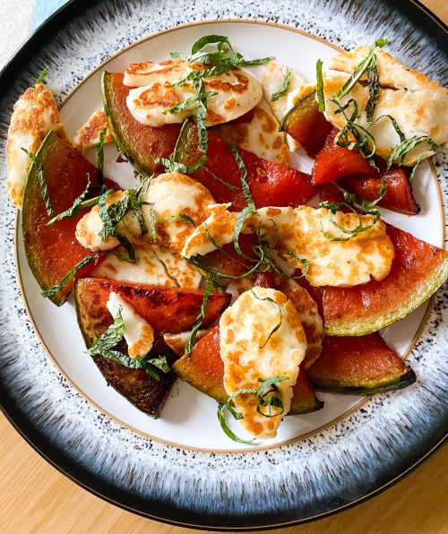 Watermelon and Halloumi from Meze by Sally Butcher