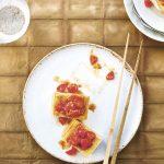 Homemade Atsuage (Fried Tofu) with Cherry Tomatoes