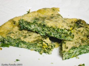 Kuku-ye Sabzi (Soft Herb Omelette) -- Kookoo Sabzi