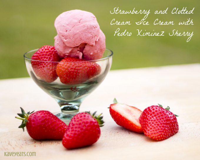 Strawberry and Clotted Cream Ice Cream with Pedro Ximinez Sherry