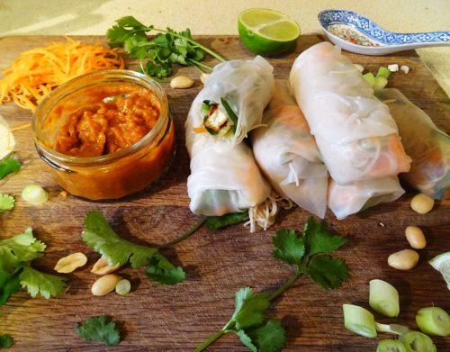 Vietnamese Vegan Summer Rolls
