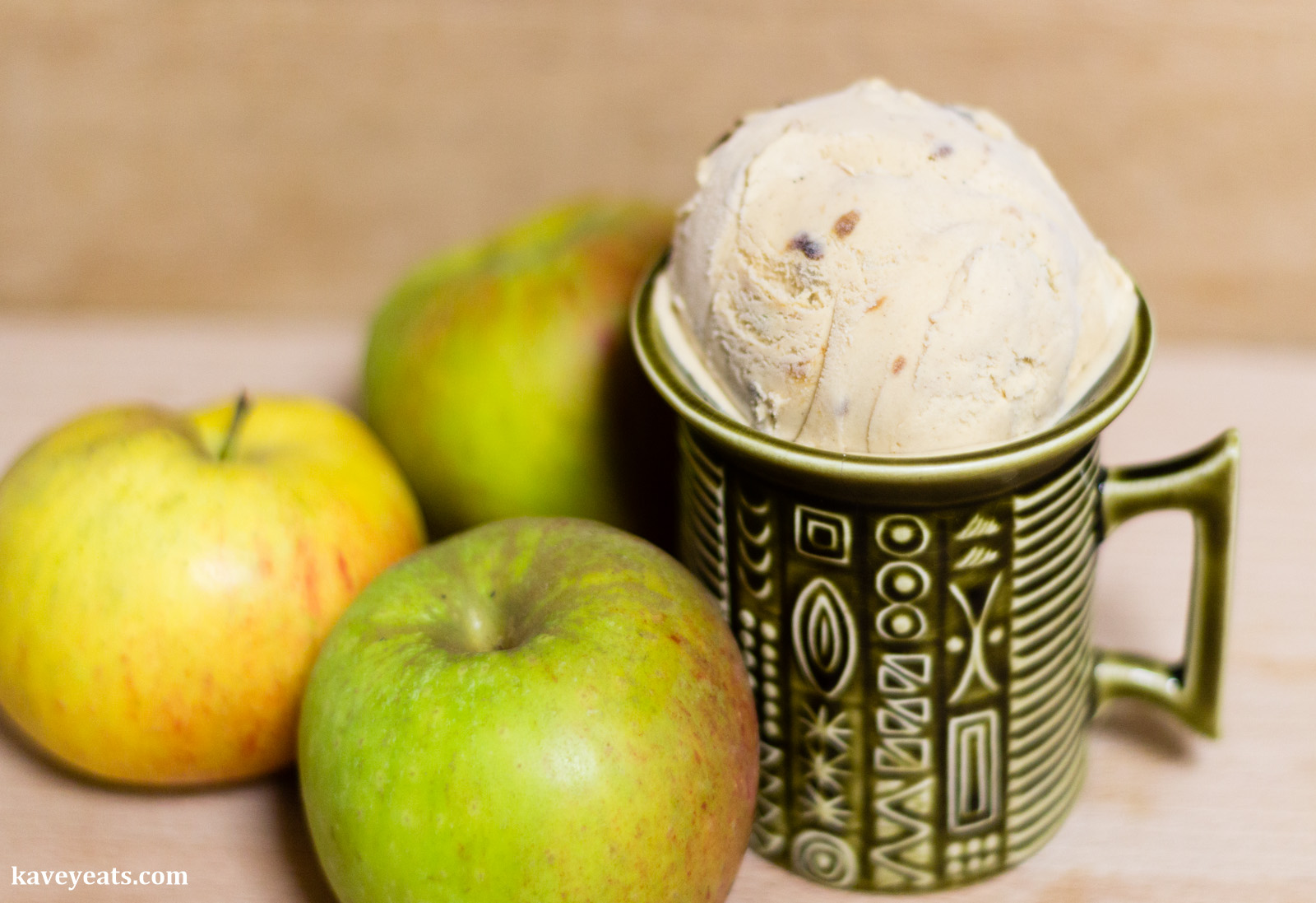 Burnt Apple Bourbon Ice Cream