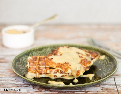 French Toast Waffles with Kaya (Coconut Spread)